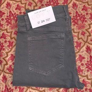 Loft modern skinny gray jeans 24 00 tall NWT